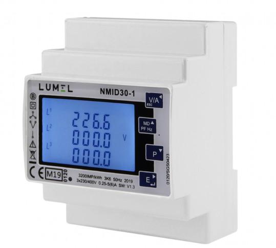 Đồng hồ đo năng lượng 1 và 3 pha 1 / 5A (chứng nhận MID)