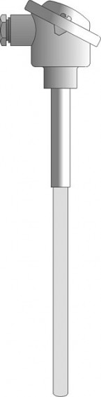Sensor with a heat-resistant ceramic cover for measuring high temperatures - CT801, CT802, CT803, CT804, CT805