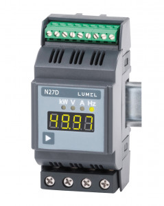 Rail mounted 1-phase power network meter
