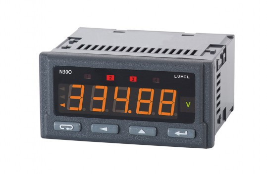 Programmable digital meter of pulses, frequency, rotational speed