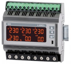 Rail mounted 3-phase power network meter