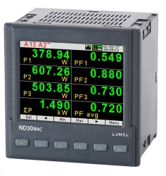 1 and 3-phase power network meter with BACnet for BMS applications