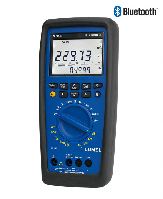 True RMS digital multimeter with data logging, view function & Bluetooth
