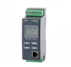 Transducer of pulses, frequency, turns, operation time with Ethernet