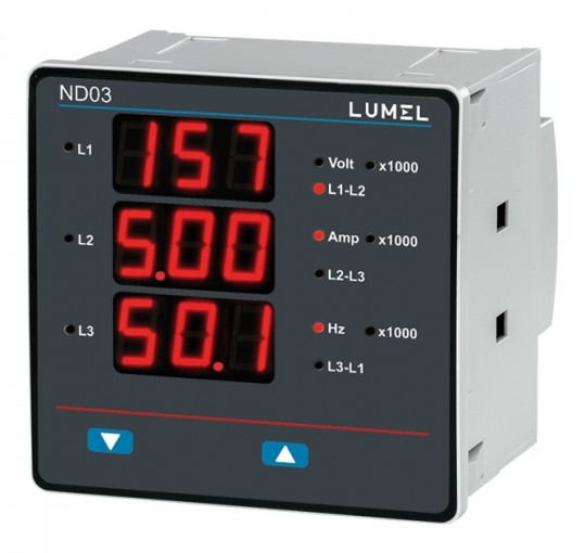 1 and 3-phase power network meter ND03