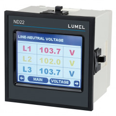 1 and 3-phase power network meter