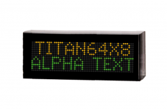 Alphanumeric displays Titan series for outdoor or indoor applications