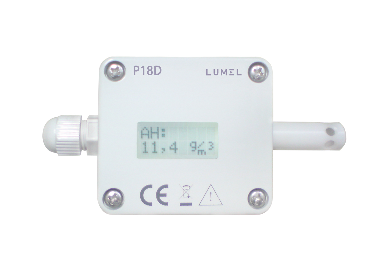 Humidity and temperature transducers with digital and analog output